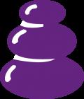 Pedicure Corinda Hot Stone icon purple